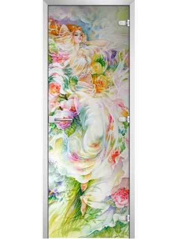 Стеклянная межкомнатная дверь Painting-09