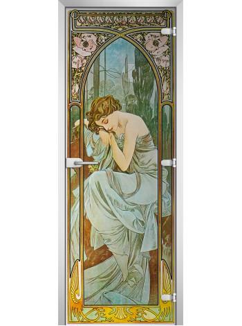 Стеклянная межкомнатная дверь Painting-11