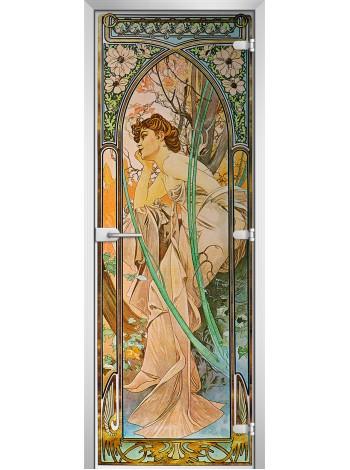 Стеклянная межкомнатная дверь Painting-12