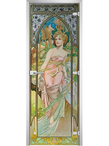 Стеклянная межкомнатная дверь Painting-13