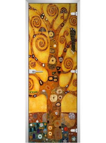 Стеклянная межкомнатная дверь Painting-16