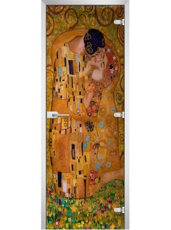 Стеклянная межкомнатная дверь Painting-17