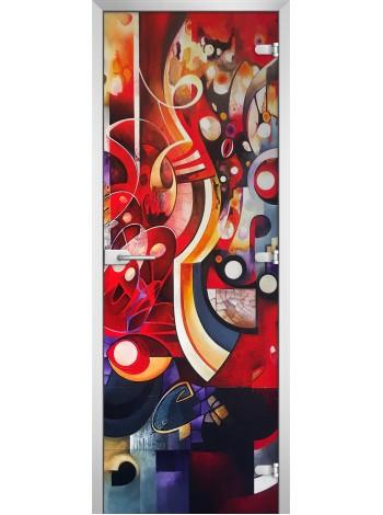 Стеклянная межкомнатная дверь Painting-19