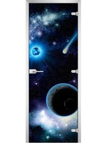 Стеклянное полотно с фотопечатью Space-01