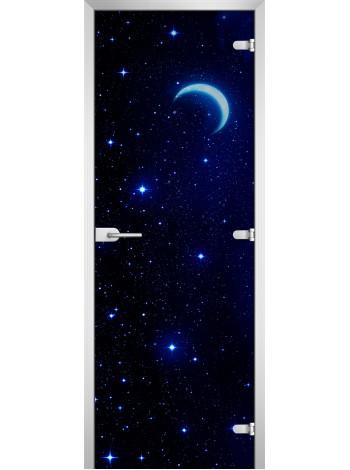 Стеклянная межкомнатная дверь Space-08