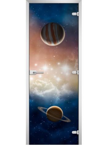 Стеклянная межкомнатная дверь Space-09
