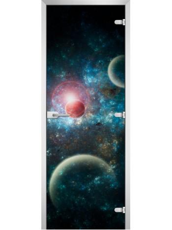 Стеклянная межкомнатная дверь Space-16