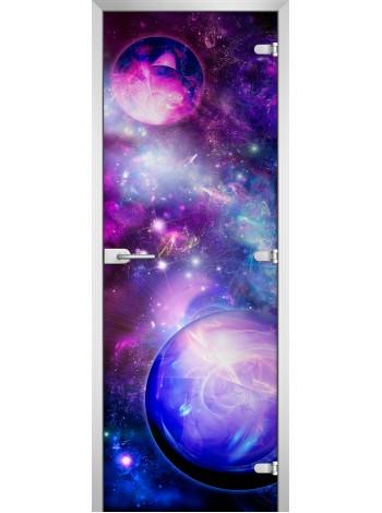 Стеклянная межкомнатная дверь Space-17