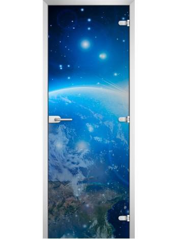 Стеклянная межкомнатная дверь Space-18