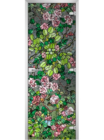 Стеклянная межкомнатная дверь Stained Glass-01