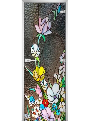 Стеклянная межкомнатная дверь Stained Glass-02