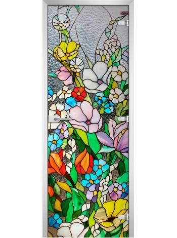 Стеклянная межкомнатная дверь Stained Glass-03