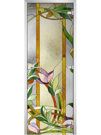 Стеклянная межкомнатная дверь Stained Glass-04