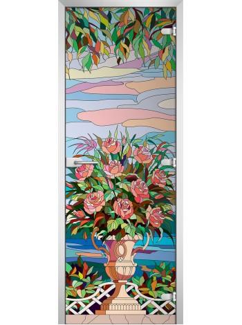 Стеклянная межкомнатная дверь Stained Glass-06