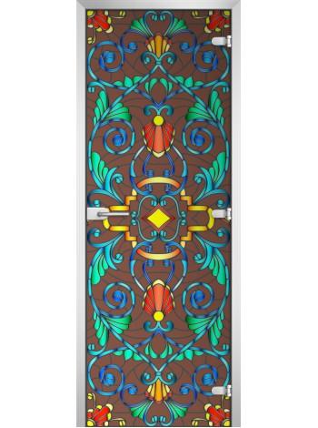 Стеклянная межкомнатная дверь Stained Glass-07
