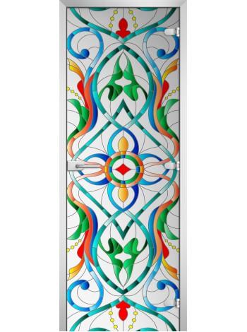 Стеклянная межкомнатная дверь Stained Glass-08