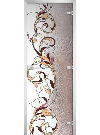 Стеклянная межкомнатная дверь Stained Glass-09