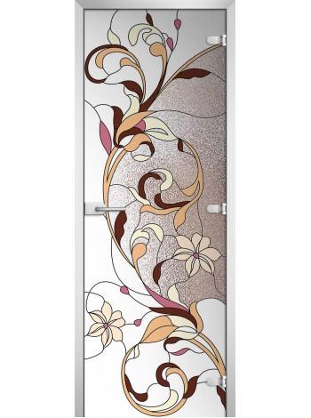 Стеклянная межкомнатная дверь Stained Glass-10