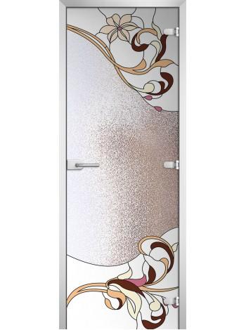 Стеклянная межкомнатная дверь Stained Glass-11