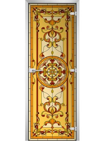 Стеклянная межкомнатная дверь Stained Glass-13