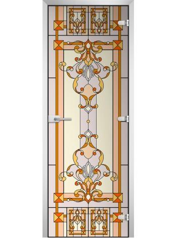 Стеклянная межкомнатная дверь Stained Glass-14