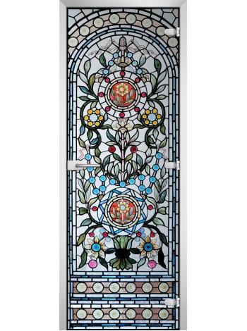 Стеклянная межкомнатная дверь Stained Glass-15