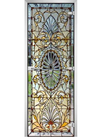 Стеклянная межкомнатная дверь Stained Glass-17