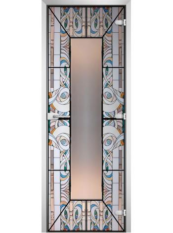 Стеклянная межкомнатная дверь Stained Glass-18