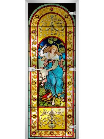 Стеклянная межкомнатная дверь Stained Glass-19