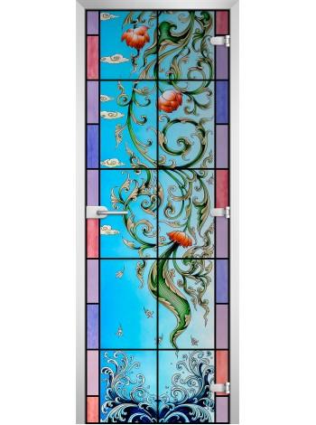 Стеклянная межкомнатная дверь Stained Glass-20