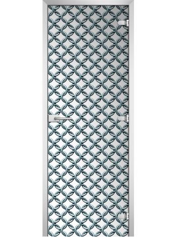 Стеклянная межкомнатная дверь Textures-05