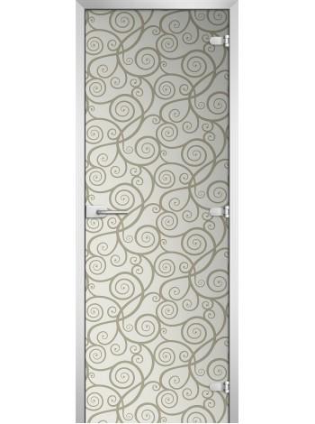 Стеклянная межкомнатная дверь Textures-06