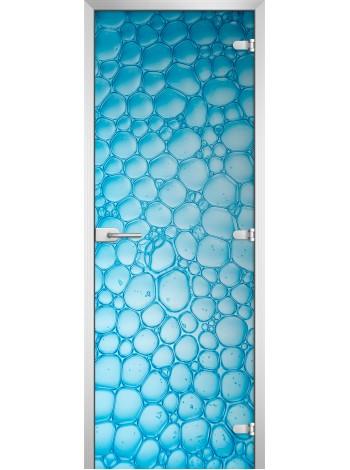 Стеклянная межкомнатная дверь Textures-07