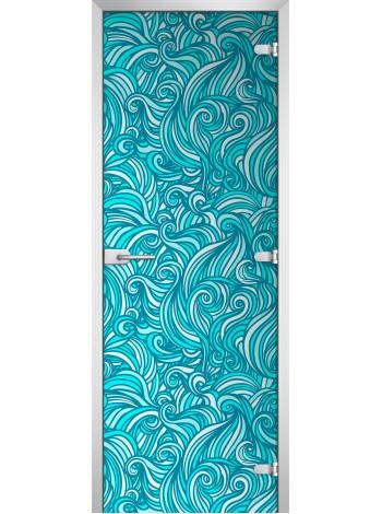 Стеклянная межкомнатная дверь Textures-10