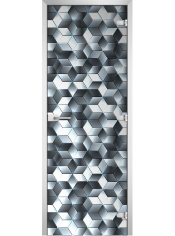 Стеклянная межкомнатная дверь Textures-11