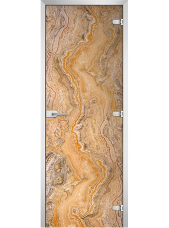 Стеклянная межкомнатная дверь Textures-16