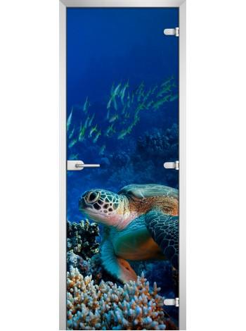 Стеклянное полотно с фотопечатью Underwater World-03