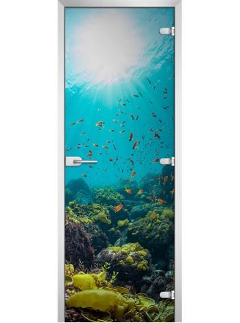 Стеклянная межкомнатная дверь Underwater World-06
