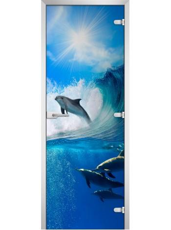 Стеклянное полотно с фотопечатью Underwater World-09