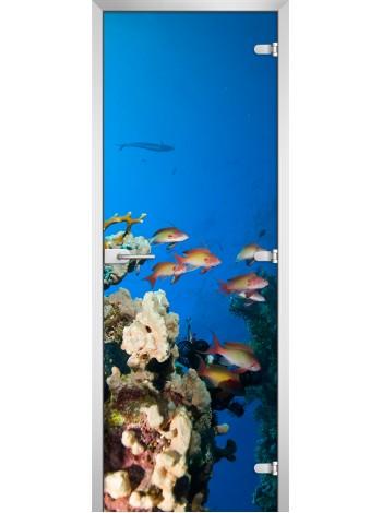 Стеклянная межкомнатная дверь Underwater World-10