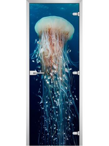Стеклянная межкомнатная дверь Underwater World-13