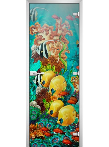 Стеклянное полотно с фотопечатью Underwater World-17