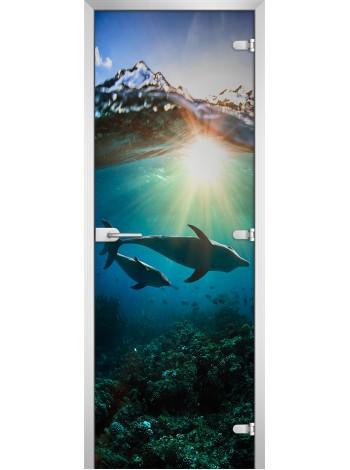Стеклянная межкомнатная дверь Underwater World-20
