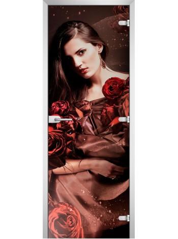 Стеклянное полотно с фотопечатью Woman-04