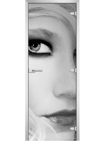 Стеклянная межкомнатная дверь Woman-09