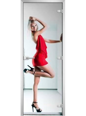 Стеклянная межкомнатная дверь Woman-10