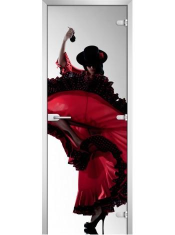 Стеклянное полотно с фотопечатью Woman-11