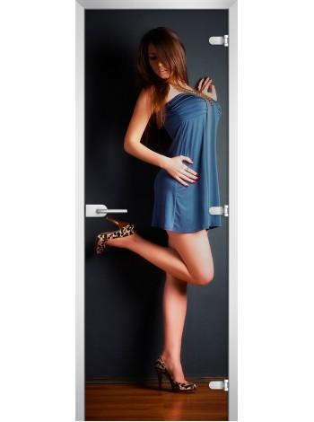 Стеклянная межкомнатная дверь Woman-13