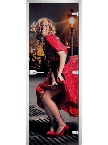 Стеклянное полотно с фотопечатью Woman-19