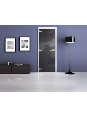 Межкомнатная стеклянная дверь Ral 7016
